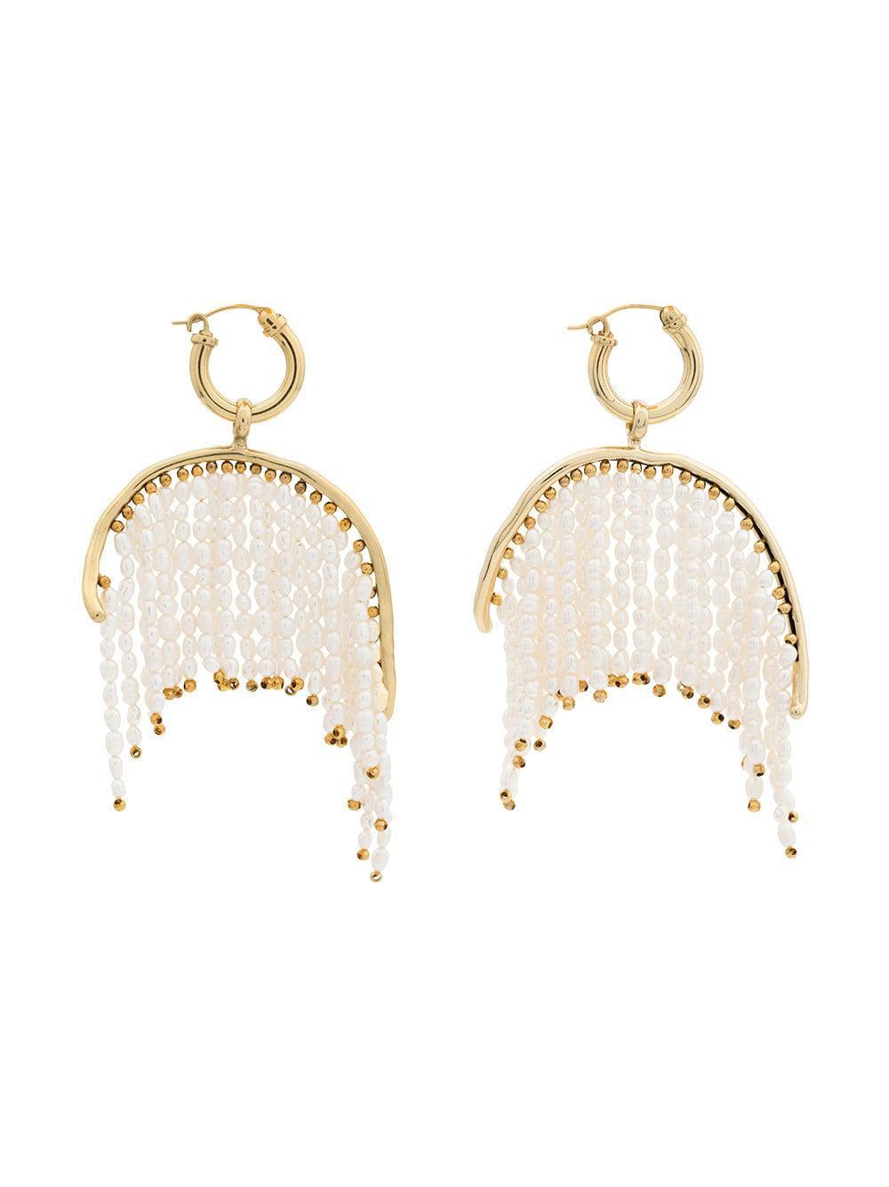 9240549f7373 Pendientes Emin con flecos de perlas Ellery - Lyst