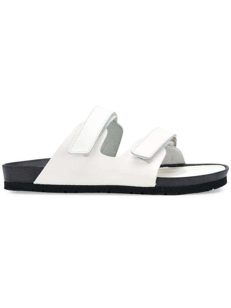 88b99f955 Lyst - Y s Yohji Yamamoto Double Strap Sandals in White