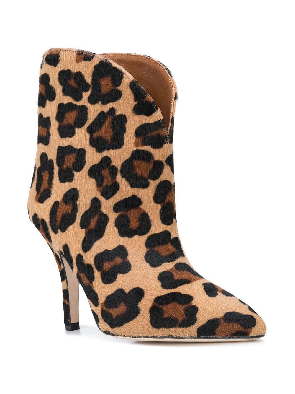 Botas con motivo de leopardo Paris Texas de Pelo de color Marrón