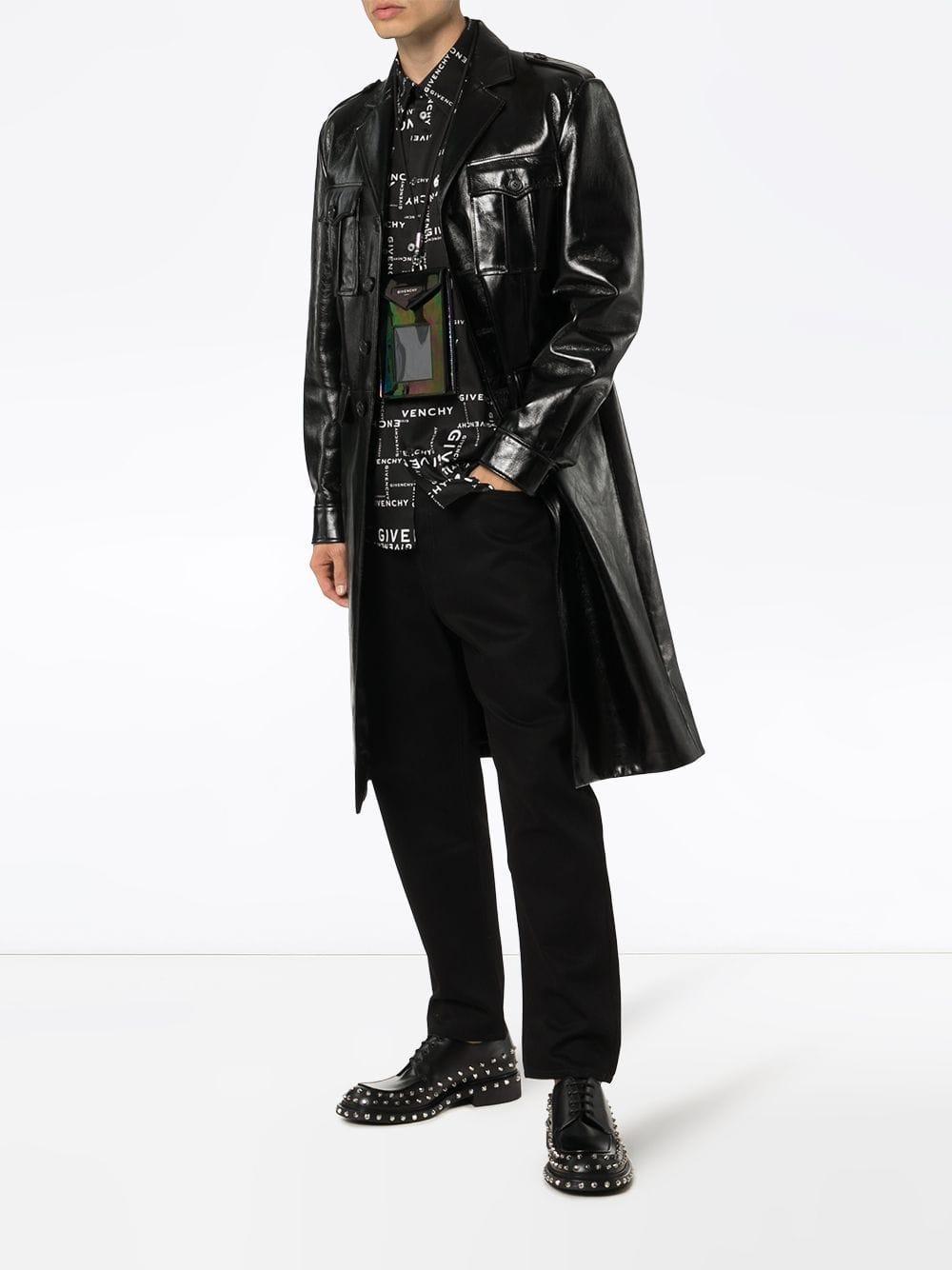 Givenchy Katoen Overhemd Met Logoprint in het Zwart voor heren