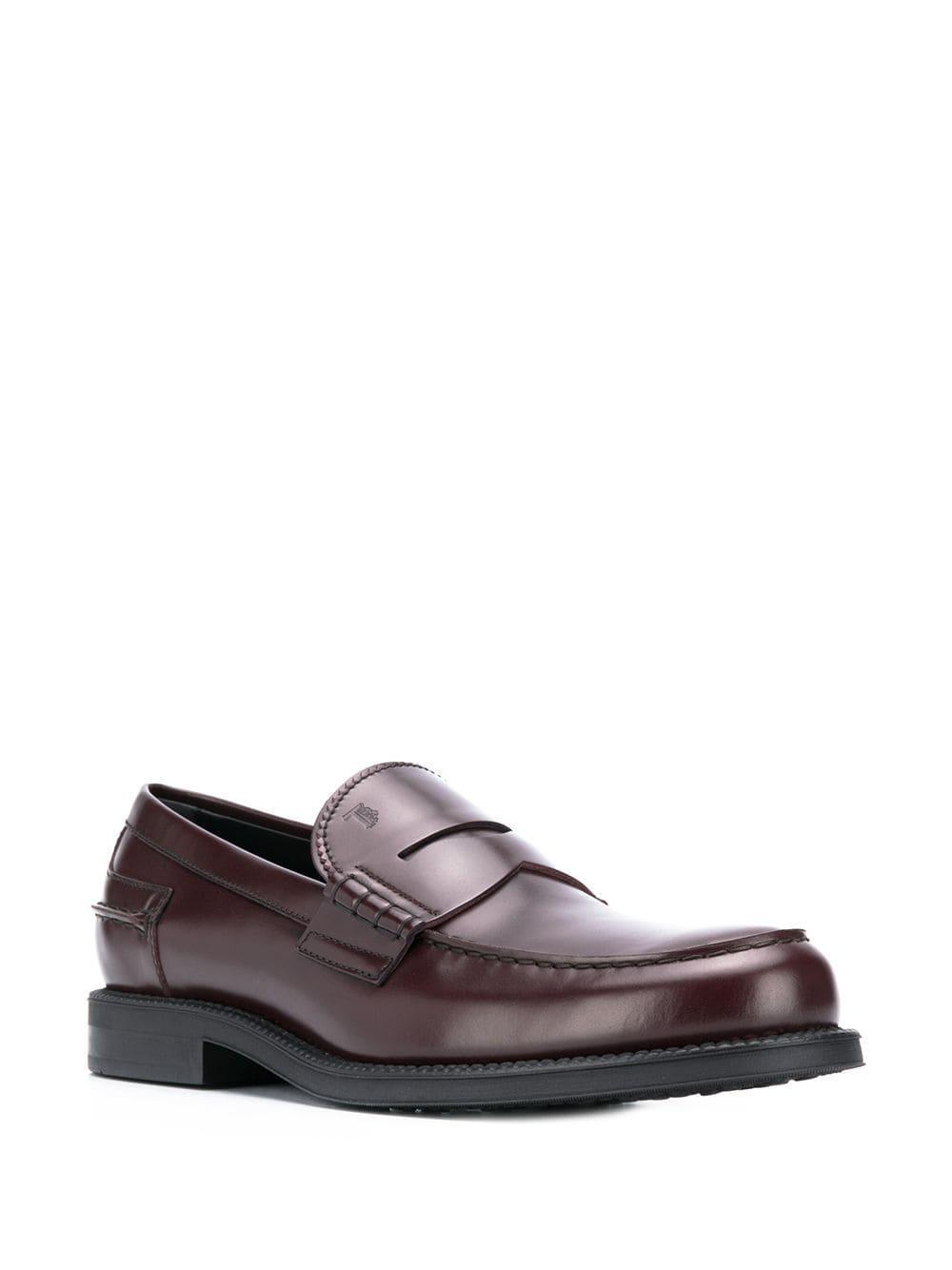 Tod's Leer Loafers Van Leer in het Bruin voor heren