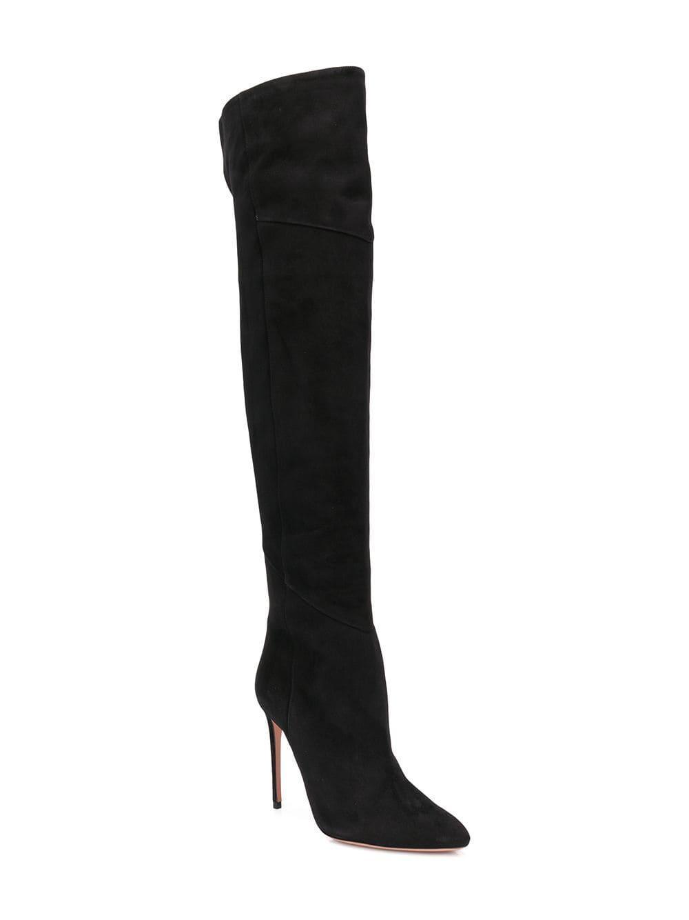 ef2a7e0d843 Lyst - Aquazzura Alma Over-the-knee Boots in Black
