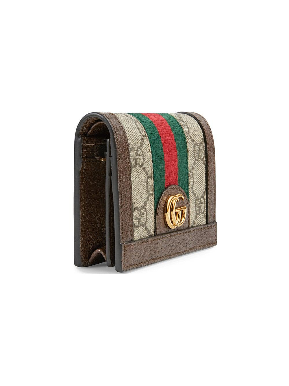 5569ae45cc7414 Gucci - Multicolor Ophidia GG Card Case - Lyst. View fullscreen