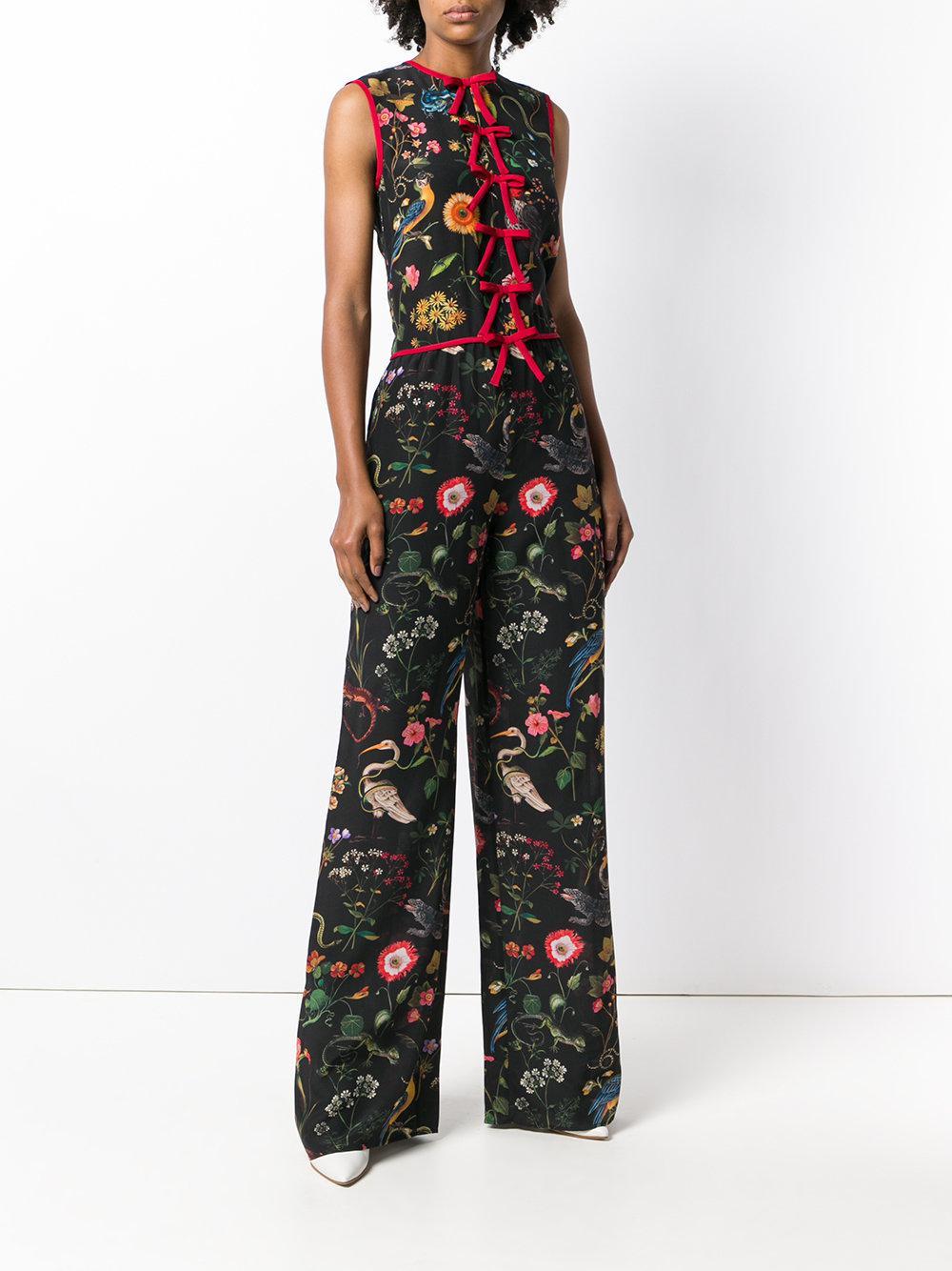 bow trimmed sleeveless jumpsuit - Black Red Valentino Best Cheap Online dgAmw90hmJ
