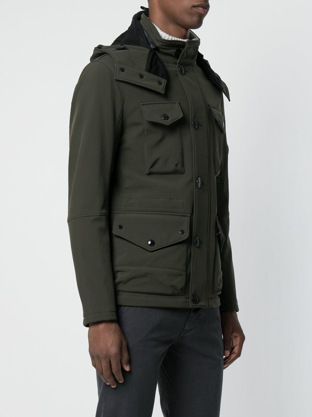 C P Company Cotton Fitted Military Jacket in Green for Men