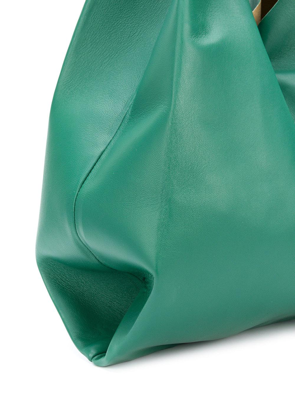 Maison Margiela Synthetic Foldover Oversized Tote in Green