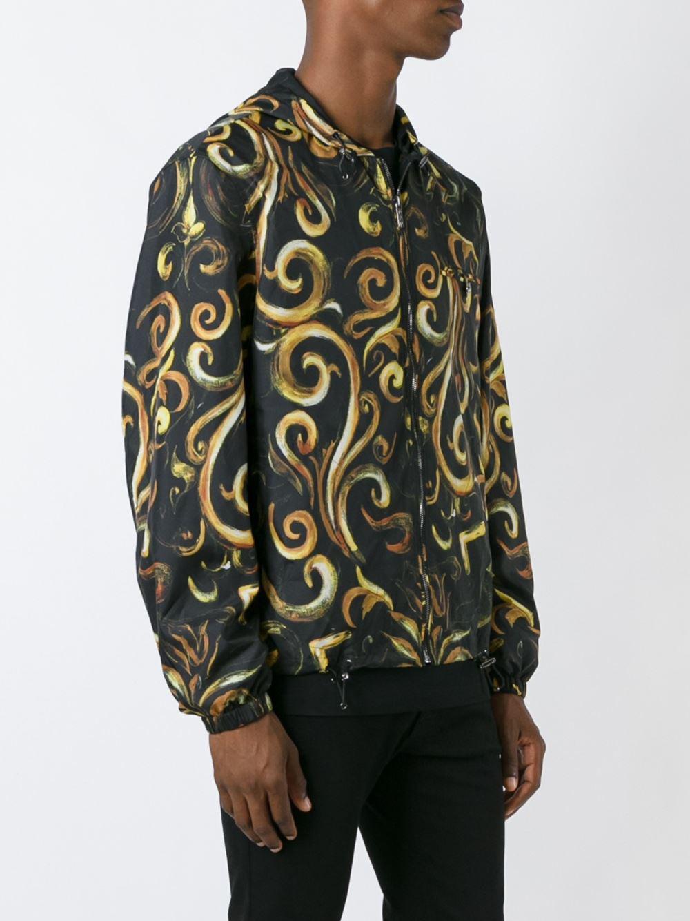 Versace Baroque Hooded Jacket In Black For Men Lyst