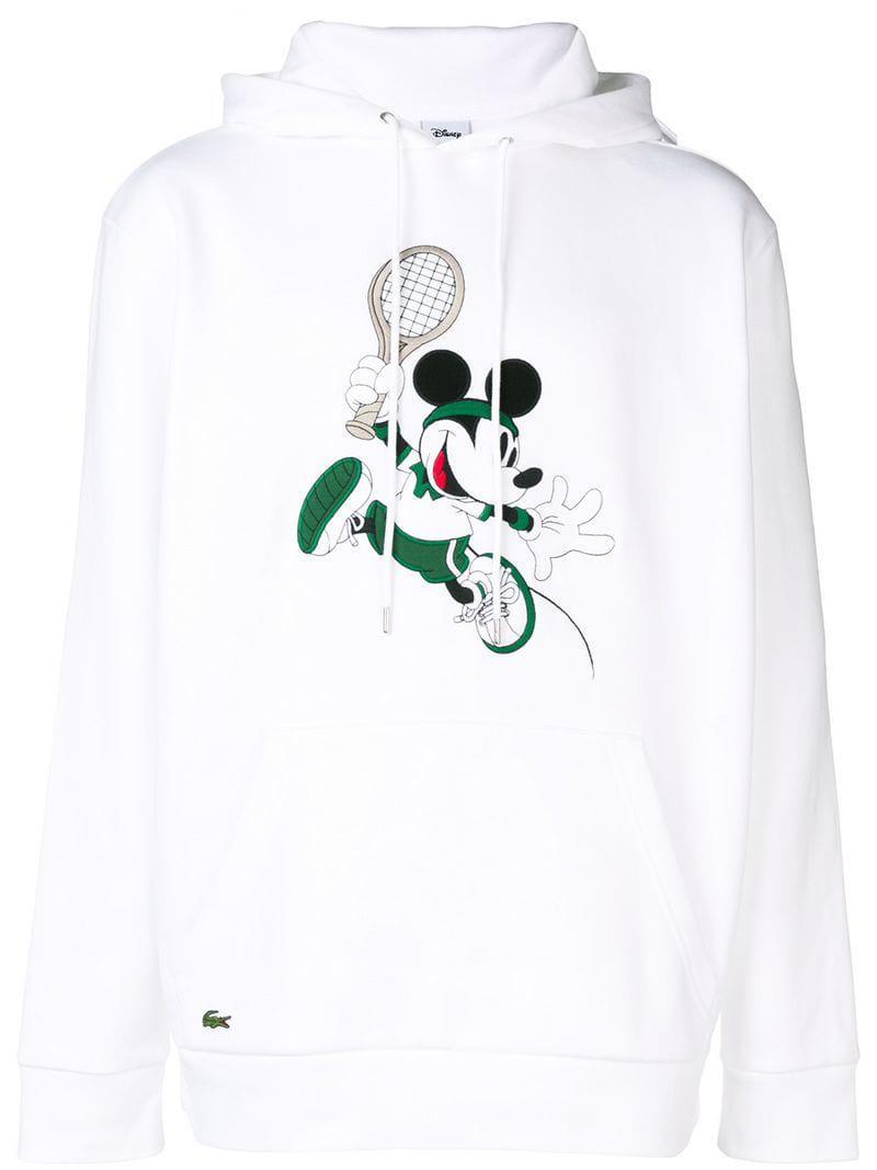 4bdc9871ce Sweat à capuche x Disney Mickey Lacoste pour homme en coloris Blanc ...