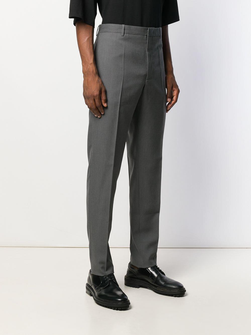 Jil Sander Wol Straight Pantalon in het Grijs voor heren