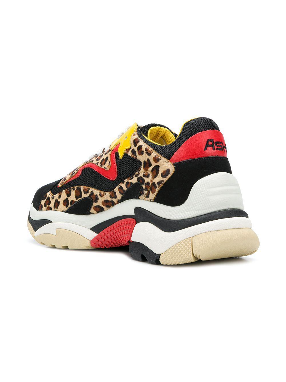 574ff9f55aca3 Lyst - Ash Leopard Lace-up Sneakers in Black