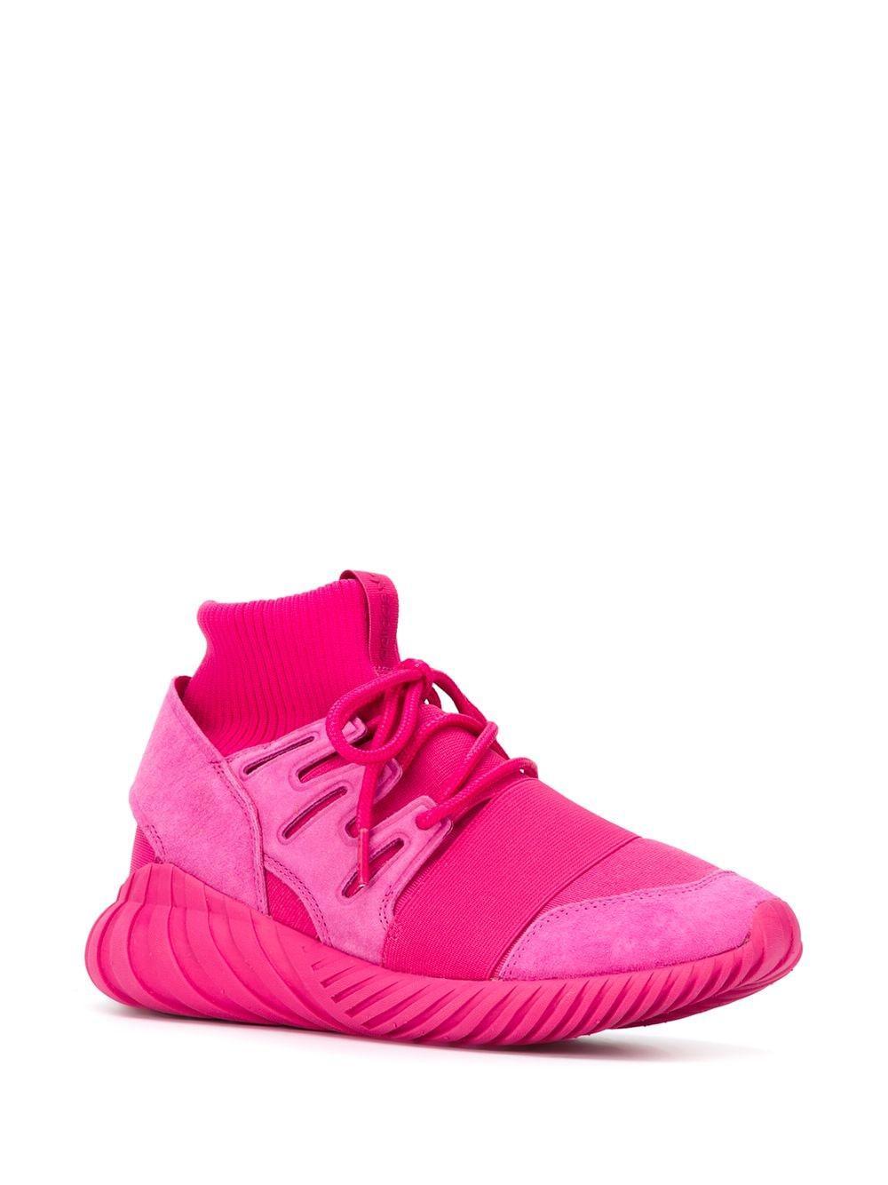 """Zapatillas """"Tubular Doom"""" adidas de Tejido sintético de color Rosa"""