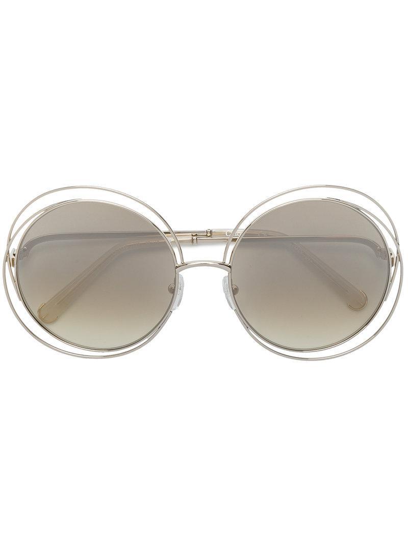 e8bbf1cb661 Chloé Carlina Sunglasses in Gray - Lyst