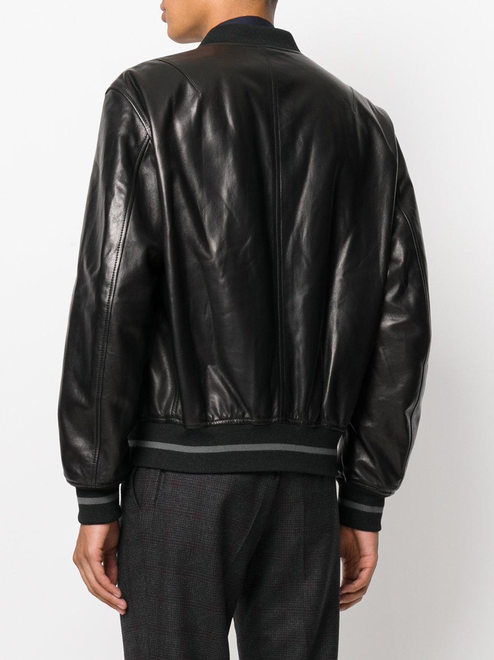 c07c335f1 Ferragamo Bomber Jacket in Black for Men - Lyst