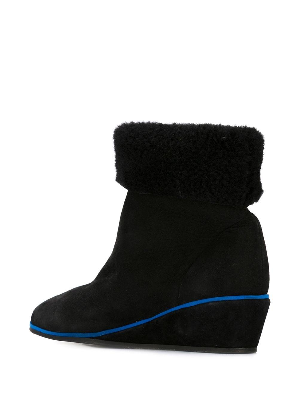 Minimarket Milkyway Suede and Leather Boots in Black