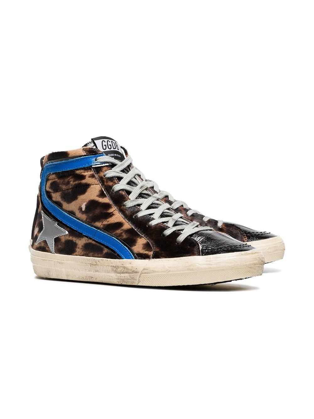 Golden Goose Deluxe Brand Leather slide Sneakers Size 6 in Blue