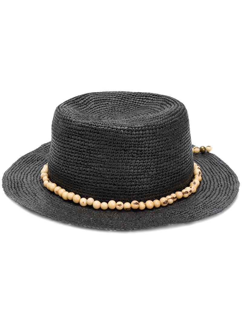 beaded band hat - Black Sensi Studio crpvnyfJi3