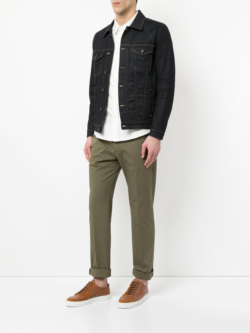 Kent & Curwen Cotton Chino Trousers in Green for Men