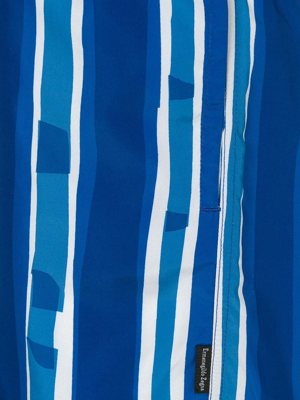 76562a33 Ermenegildo Zegna Blue Striped Swim Shorts for men