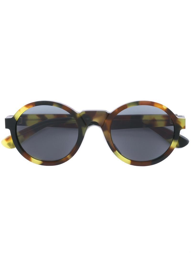 409cbdab62 Mykita Round Frame Sunglasses in Green - Lyst