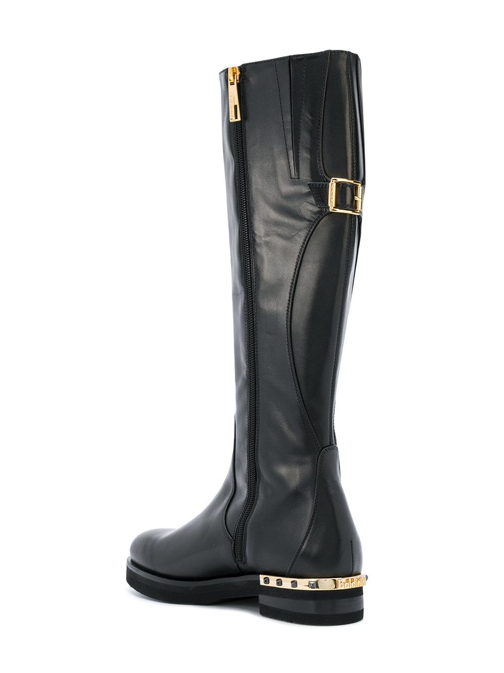 Baldinini Leather Mid-calf Length Boots in Black