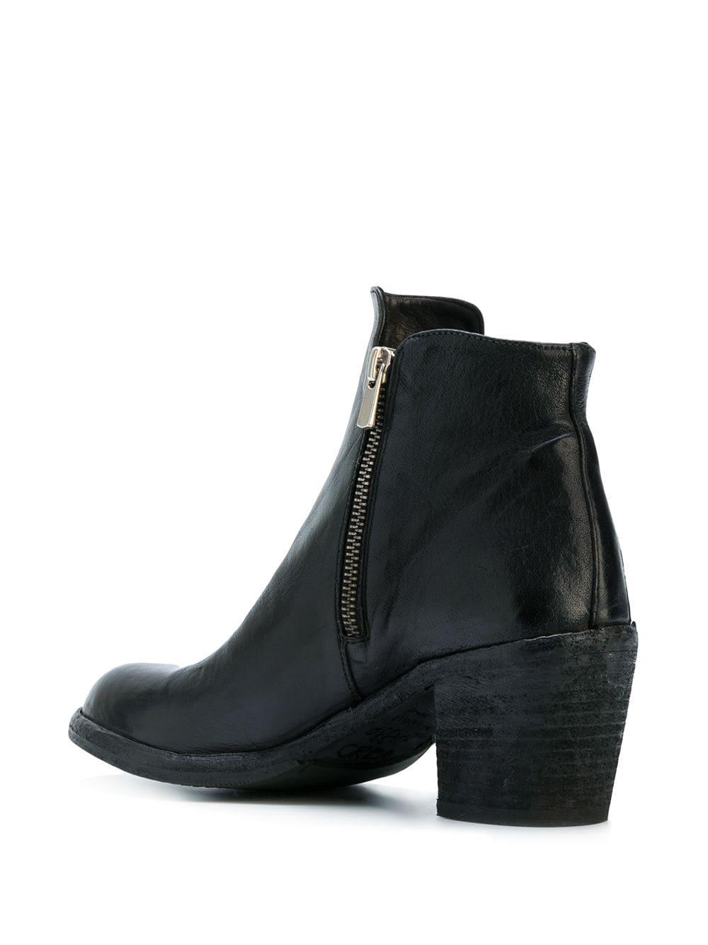 Botas Agnes Officine Creative de Cuero de color Negro