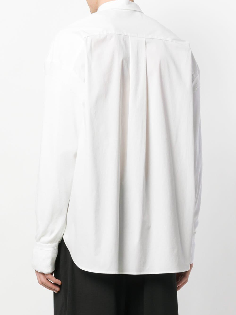 Juun.J Katoen Effen Overhemd in het Wit voor heren