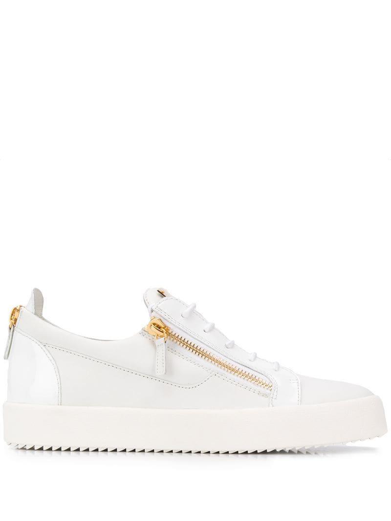 967e7bf70c9b2 Lyst - Giuseppe Zanotti Frankie Sneakers in White for Men