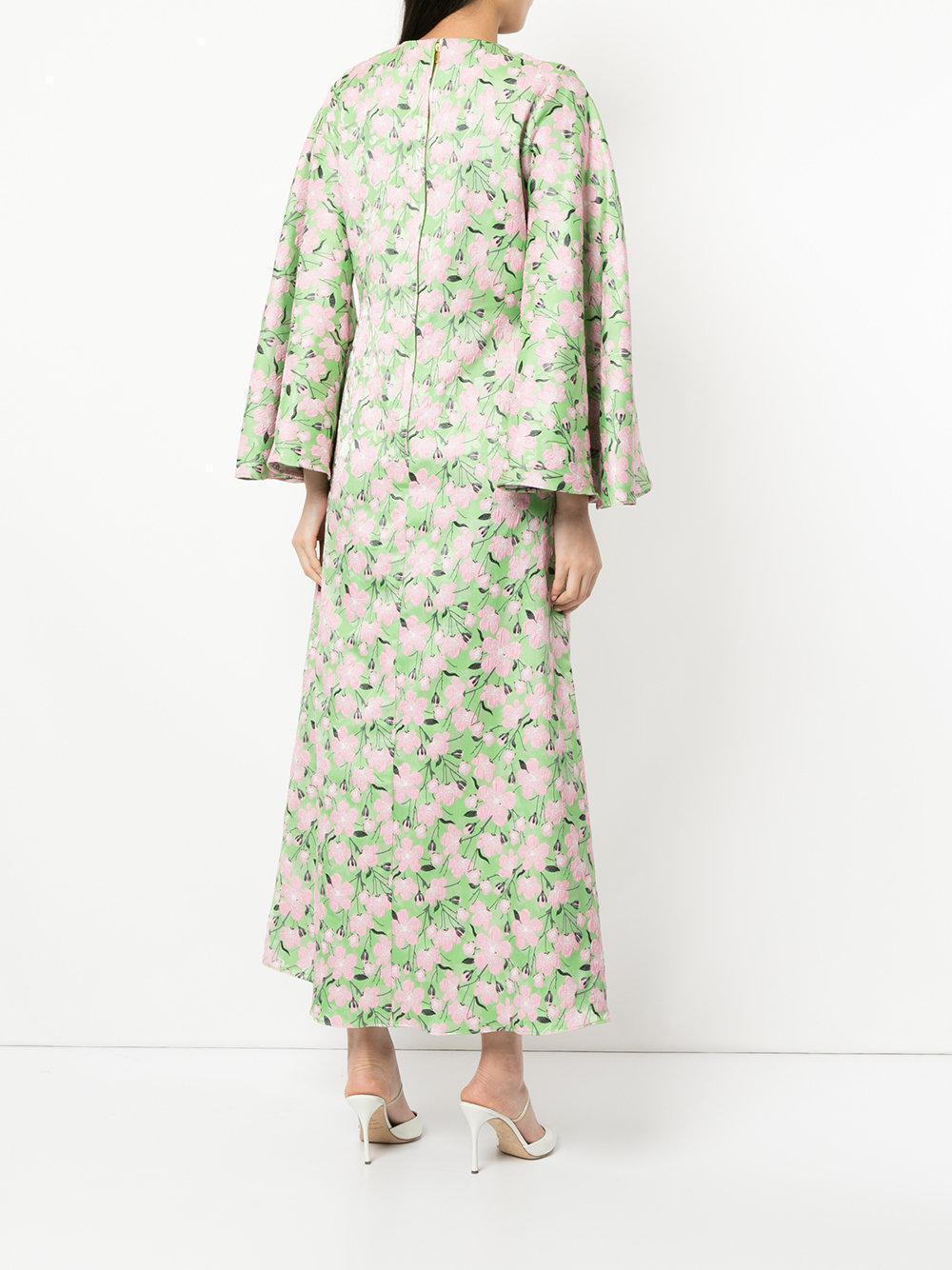 Vestido tipo caftán Rosa Bambah de color Verde