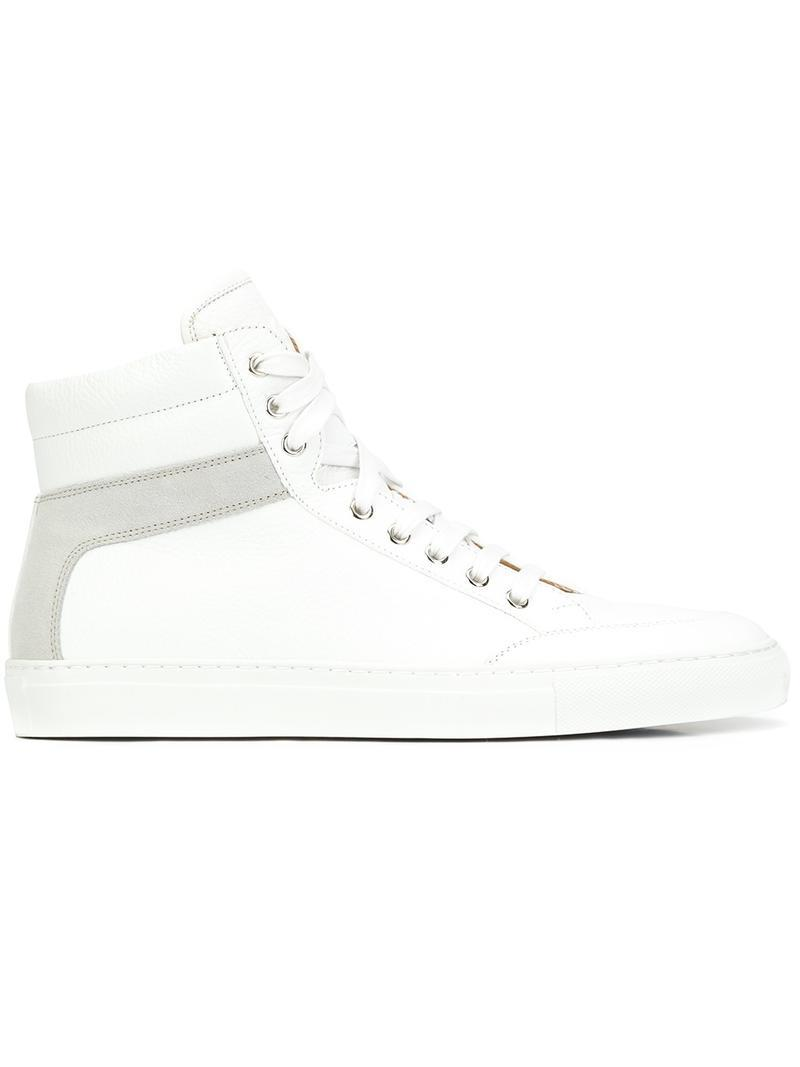 koio 39 primo bianco 39 hi top sneakers in white lyst. Black Bedroom Furniture Sets. Home Design Ideas
