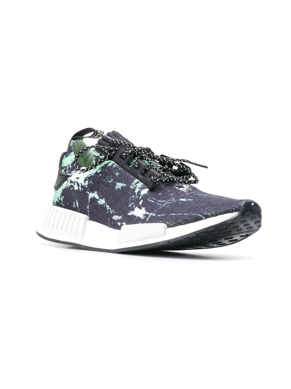new arrival 5c68b 420a3 Lyst - adidas Nmd R1 Marble Primeknit Sneakers in Blue for Men