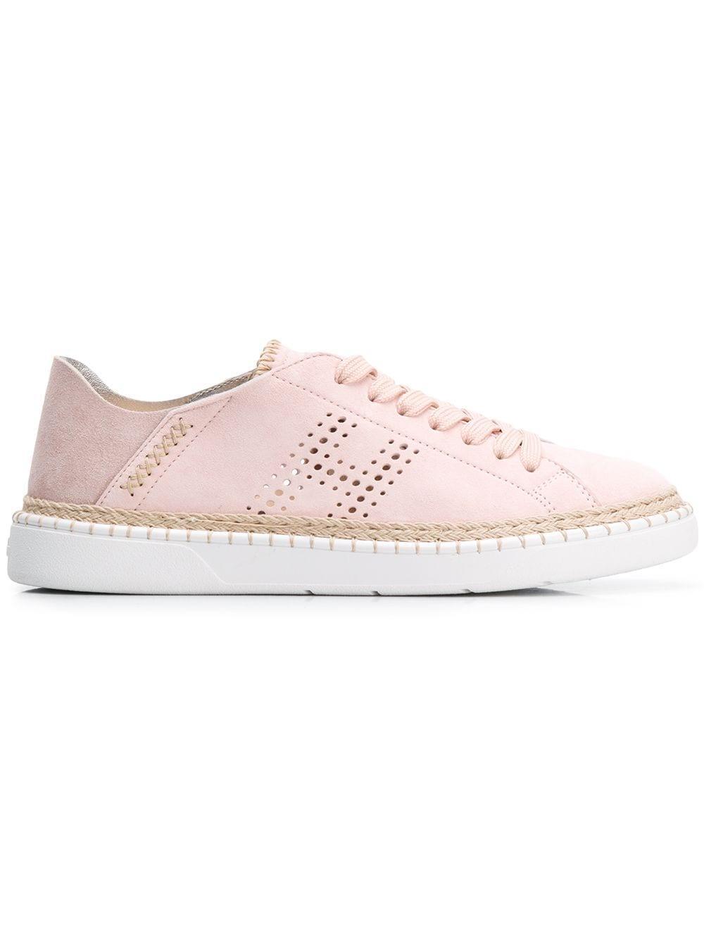 Hogan Suede H327 Sneakers in Pink - Lyst