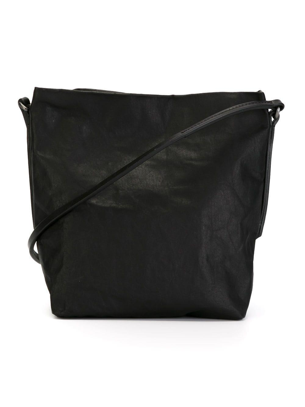 Rick Owens Slouchy Leather Cross Body Bag In Black Lyst