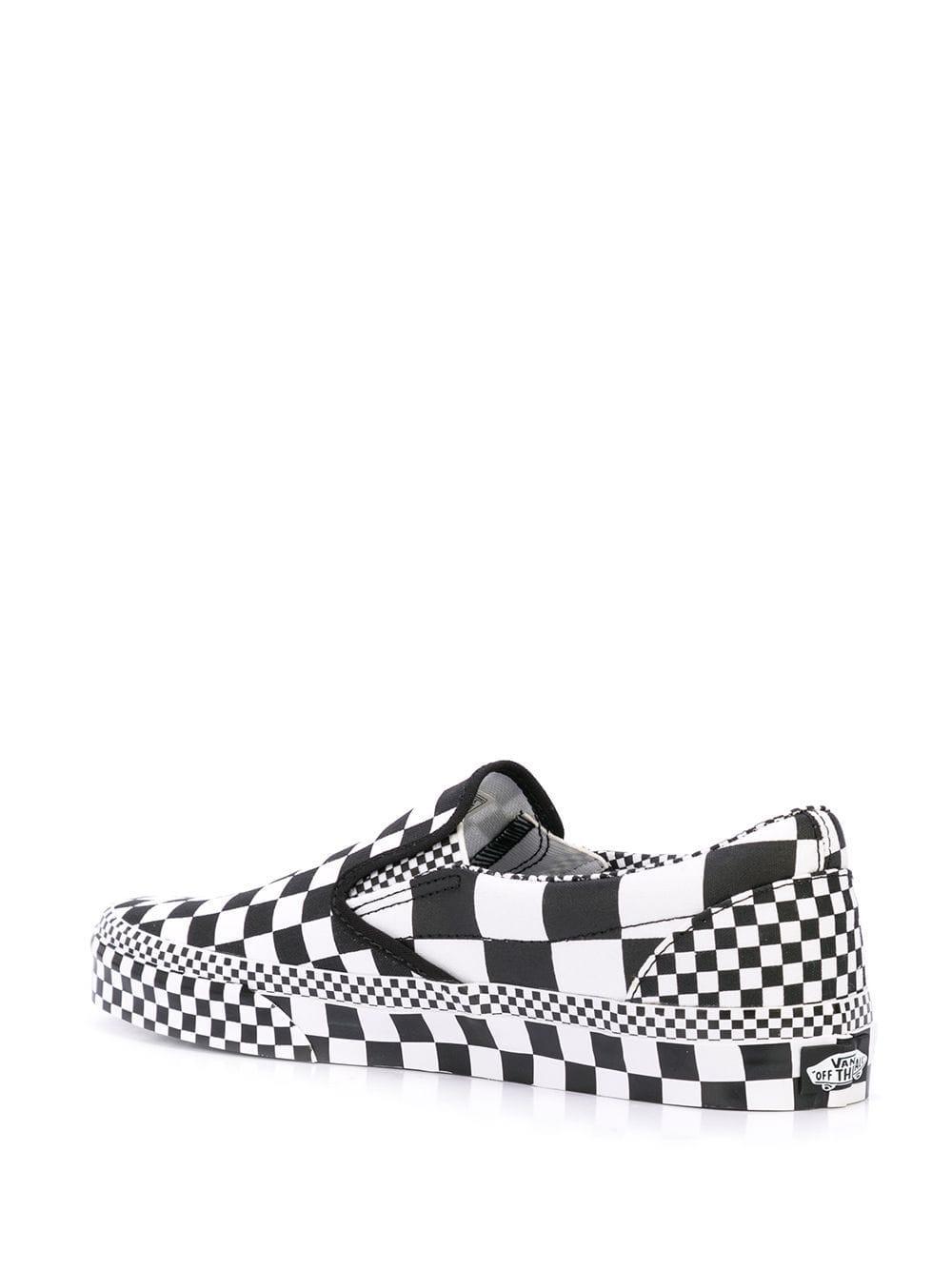 Chaussures de skate à carreaux Coton Vans pour homme en coloris Blanc