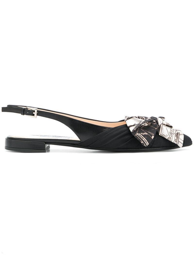 Prada Slingback bow sandals hTlzcmrnYy