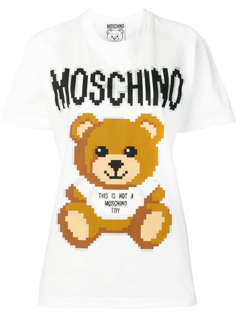 163e08148c45b Moschino - White Printed Teddy Bear T-shirt - Lyst. View fullscreen