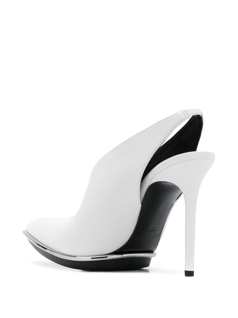 Zapatos de tacón Punta Alexander Wang de Cuero de color Blanco