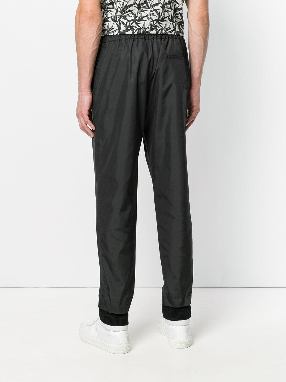 Versus Cotton Classic Track Pants in Black for Men