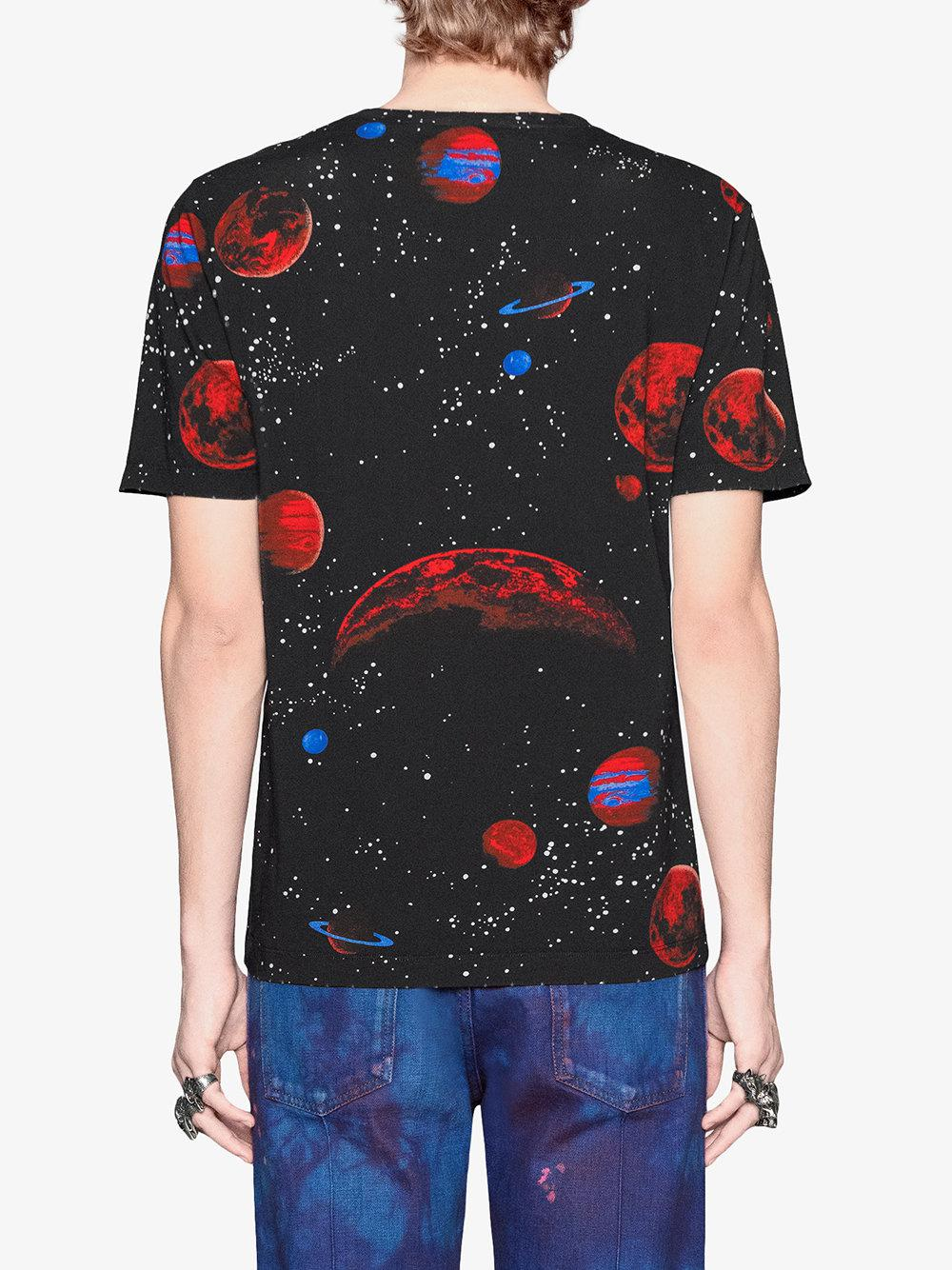 1a84d949 Gucci Space Snake-print Cotton T-shirt in Black for Men - Lyst