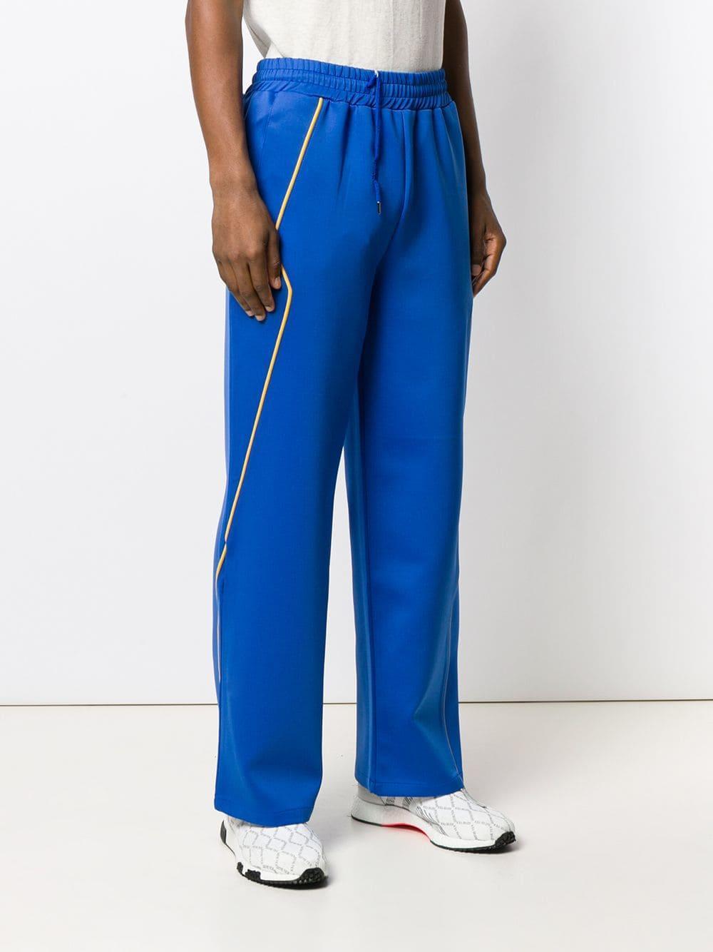 Pantalon de jogging évasé ADER error pour homme en coloris Bleu