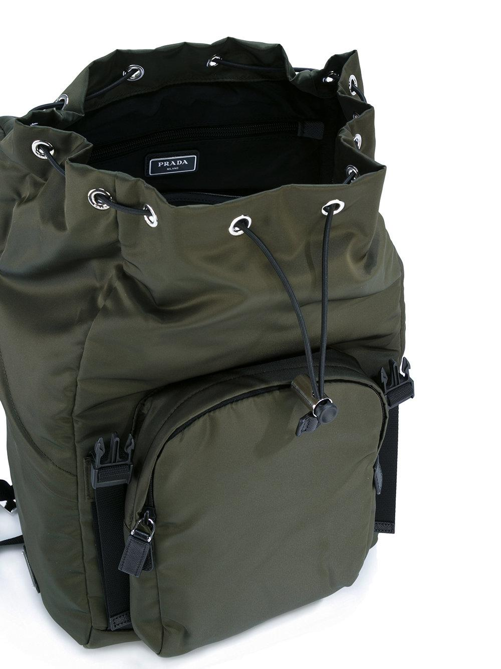 Prada Synthetic - Double Buckle Backpack - Men - Nylon - One Size in Green for Men