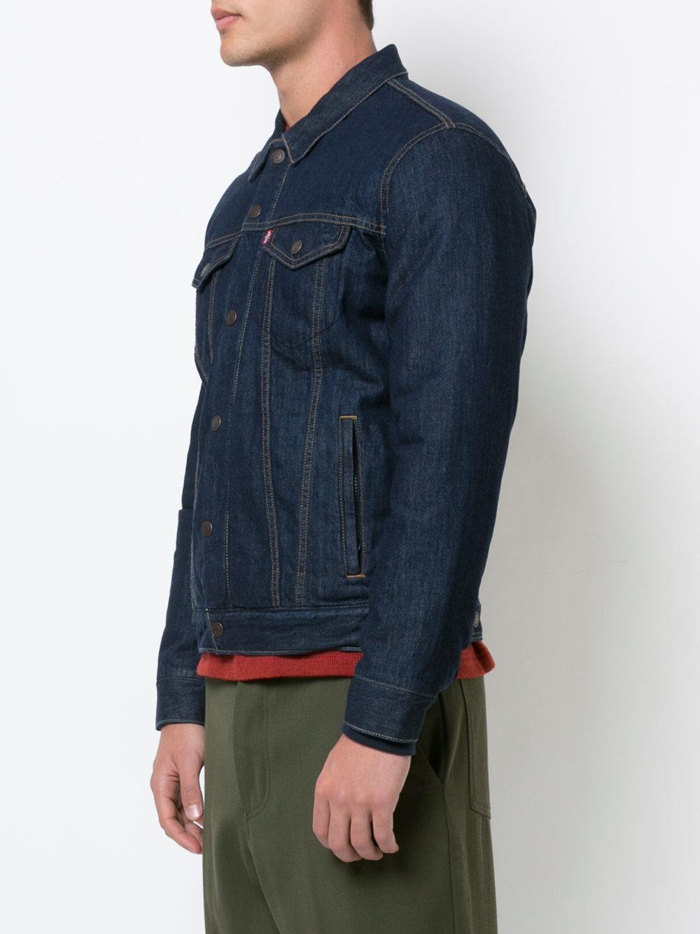 Levi's Padded Denim Jacket in Blue for Men