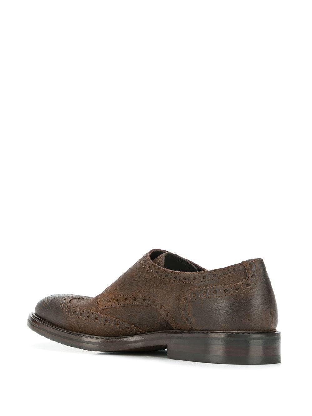 Zapatos monk con detalles de vestir Henderson de Cuero de color Marrón para hombre