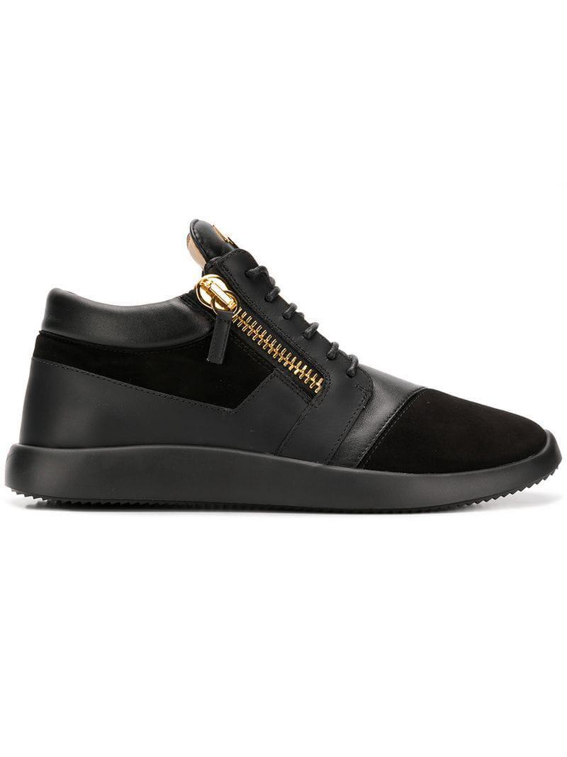 Giuseppe Zanotti Leather Frankie Sneakers In Black For Men