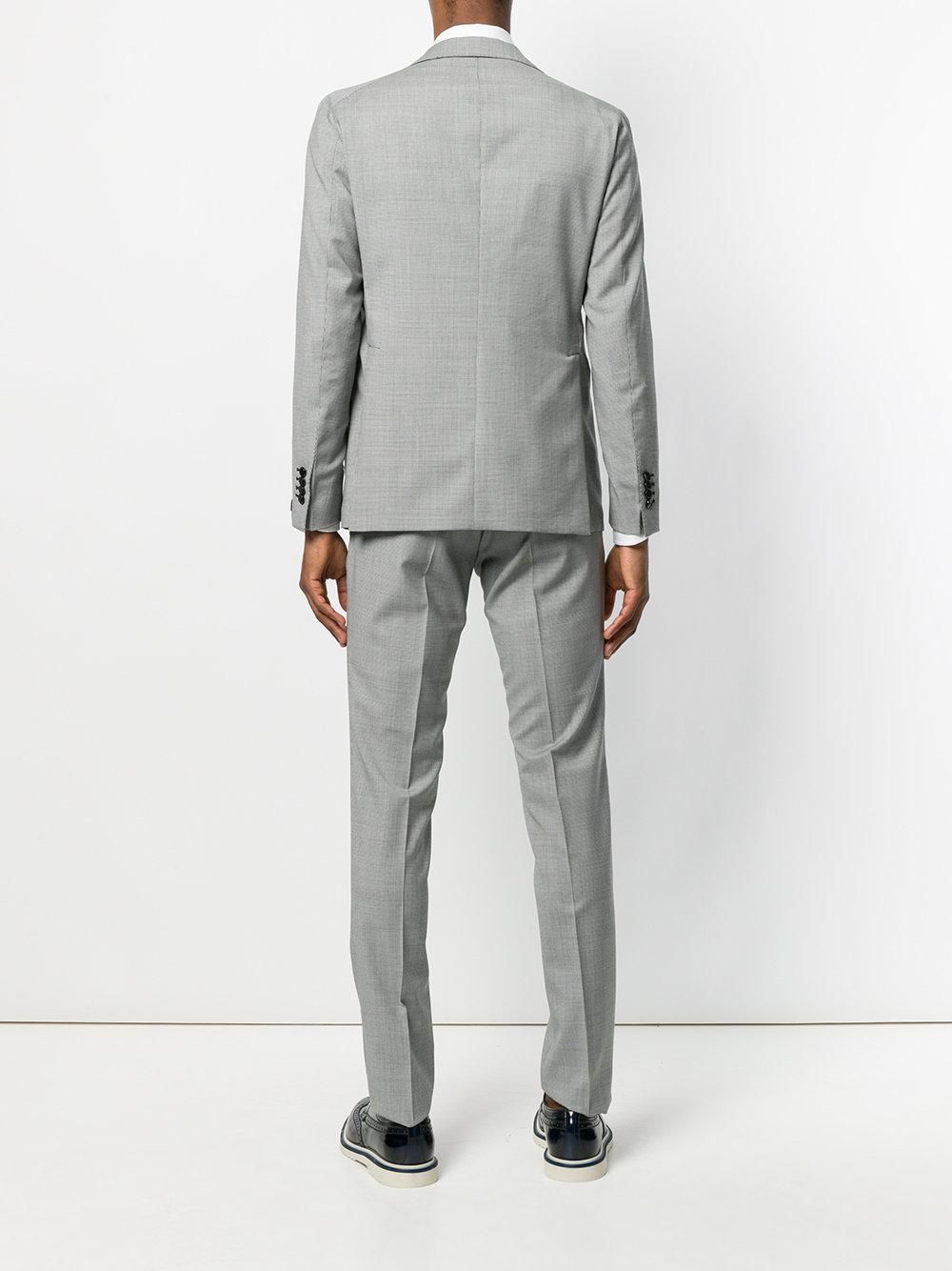 44d5062e9361 Tagliatore Pied Pool Suit in Black for Men - Lyst