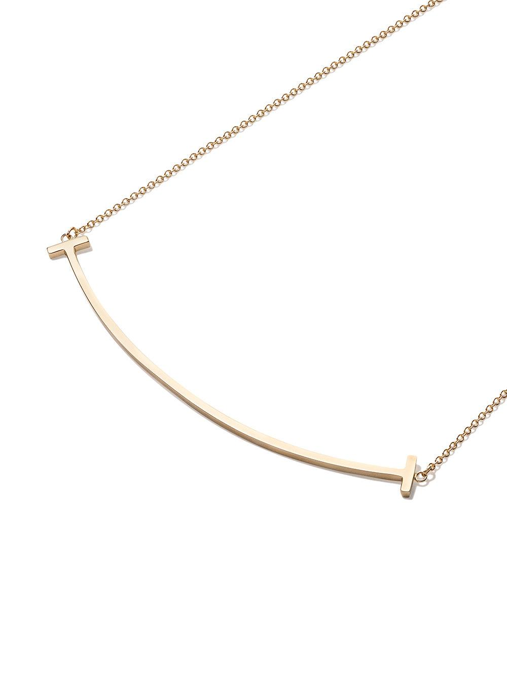 3a24f9a0f Tiffany & Co. 18kt Yellow Gold Tiffany T Smile Pendant Necklace in ...