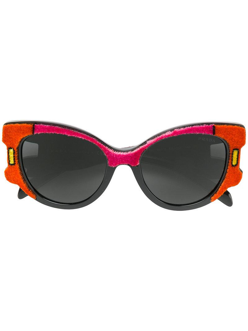 38c60763a2eb Prada. Women s Velvet Cat-eye Sunglasses