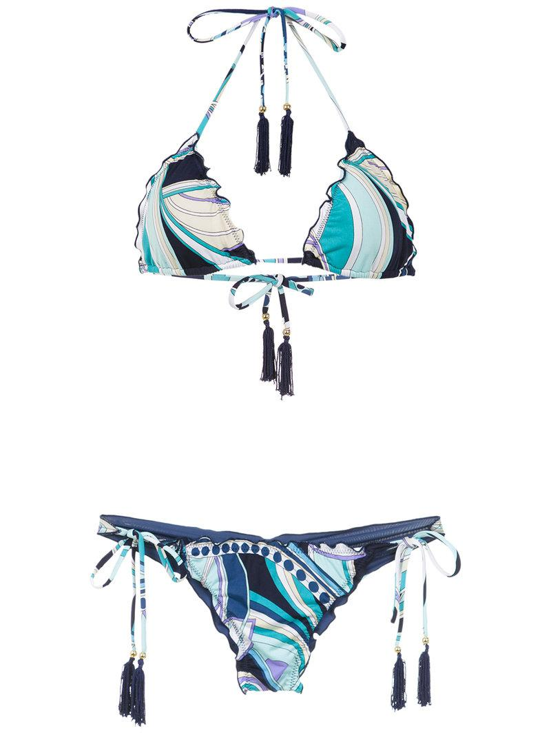 Cheap Visit printed Kate+Pati bikini set - Blue Brigitte Sexy Sport Clearance Pay With Visa Collections Cheap With Mastercard t8wNN3Z