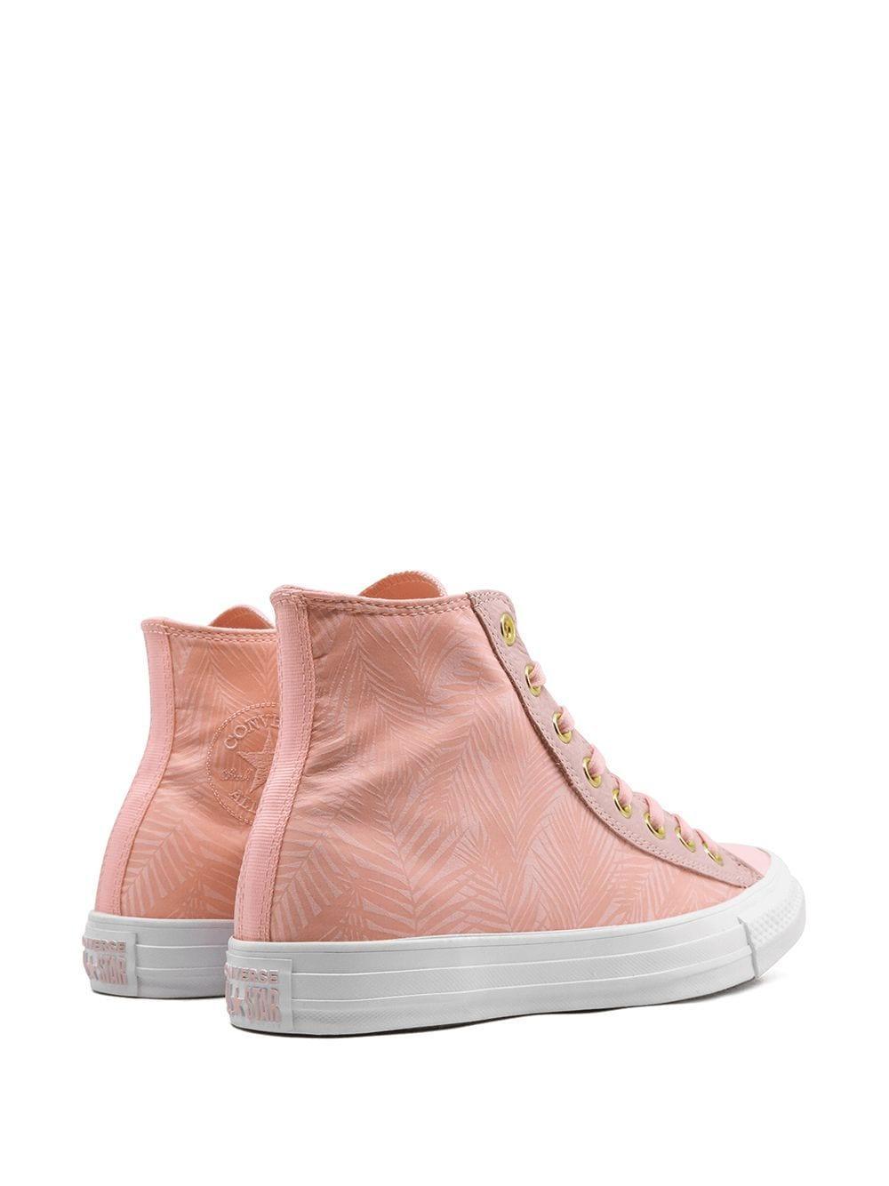 Zapatillas altas CTAS Converse de Lona de color Rosa