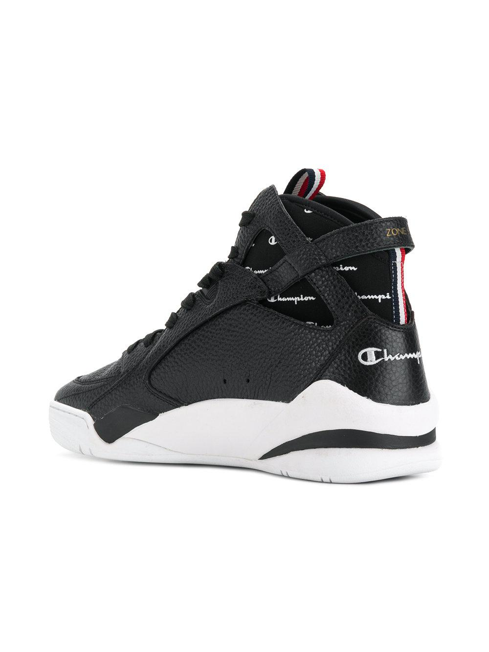 Champion Zone 93 Hi Top Sneakers In Black For Men Lyst