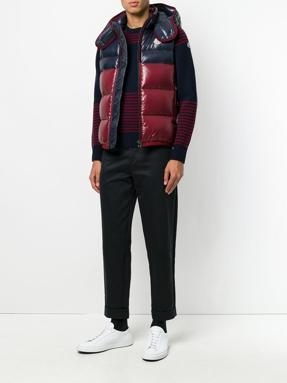 Moncler Synthetic Padded Hooded Gilet for Men